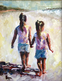 Painting of two girls